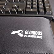 Negro Compacto Glorious PC Gaming Race Stealth Teclado Reposamu/ñecas