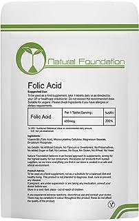 Folic Acid Vitamina B9 400 mcg tabletas Pre Pregnancy - Base