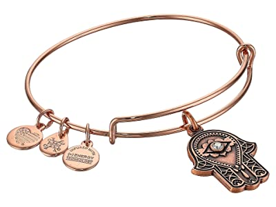 Alex and Ani Path of Symbols-Hand of Fatima III Bangle (Rose Gold) Bracelet