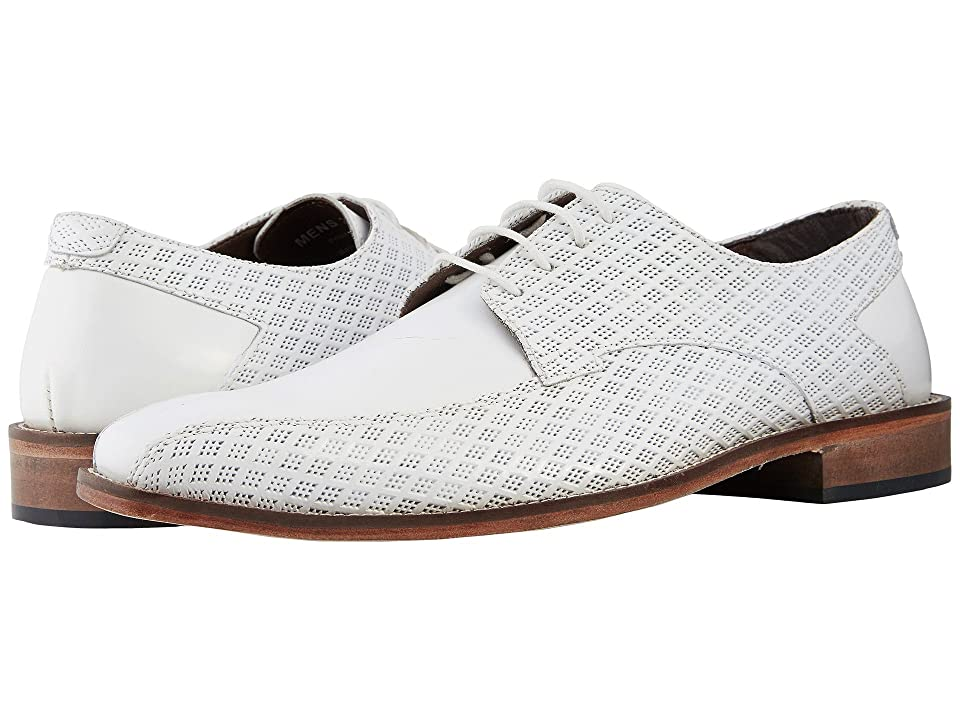 Stacy Adams Gianluca Bike Toe Oxford (White) Men