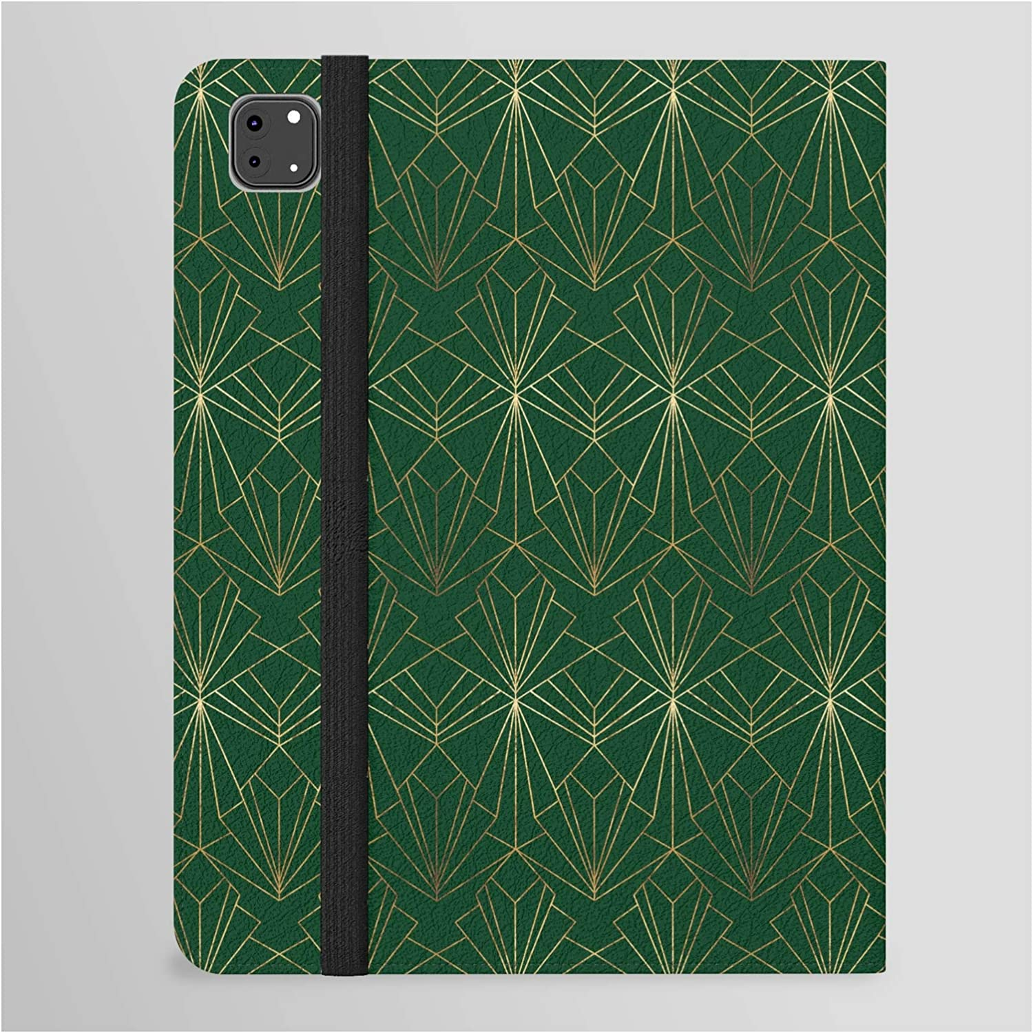 Art Deco in Emerald Green by Folio Cas Tablet Wellington Now Opening large release sale on sale Boot