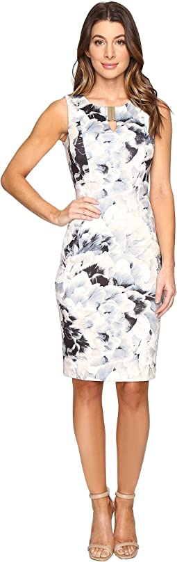 Printed Sheath w/ Hardware Dress