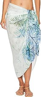 Calvin Klein Women's Striped Floral Print Pashmina