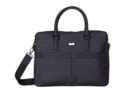 Ted Baker Frizzey Branded Nylon Document Bag (Navy) Briefcase Bags