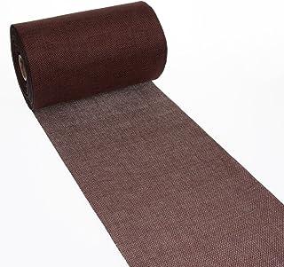 Deko As Chemin de table style shabby chic en lin - 20 cm de large - 5 m de long - Couleur chocolat