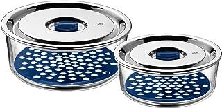 WMF Top Serve 0654916020 förvaring och servering behållare med dräneringsgrill set om 2