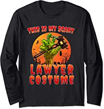 This is My Scary Lawyer Costume Zombie Spooky Halloween Long Sleeve T-Shirt