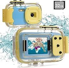 دوربین زیر آب Batlofty Kids ، دوربین دیجیتال ضد آب 8MP 1080P HD با صفحه نمایش IPS 2.0 اینچی ، کارت SD 32 گیگابایتی ، ضد آب