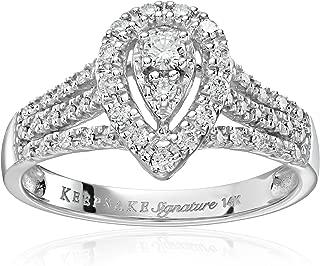 Keepsake Signature 14k White Gold Diamond Pear Shaped Engagement Ring (1/2cttw, H-I Color, I1 Clarity)