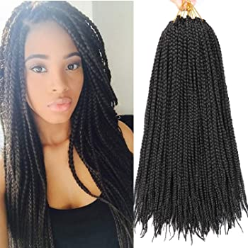 Amazon Com Lihui 7 Packs 24 Inch Crochet Hair Braids Synthetic Braiding Hair Extensions 24inches 1b Color Beauty