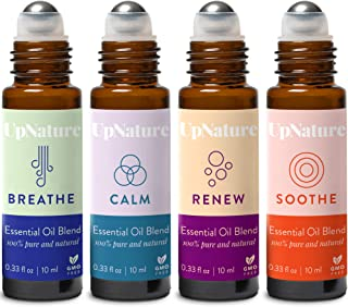 Rescue Essential Oil Rollerball Set – Ease Congestion, Anxiety & Stress Relief, Healthy Skin, Soothe Muscle - Ready to Use...