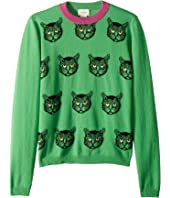 Gucci Kids - Cats Intarsia Wool Sweater (Little Kids/Big Kids)