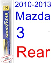 Best 2013 mazda 3 rear wiper blade size Reviews