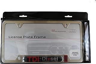 AUDI Genuine Accessories 4L0071801 TDI Polished License Plate Frame