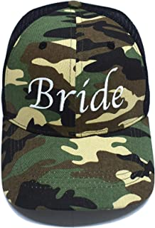 Premium Bride Camo Trucker Hat - Perfect for Bride, Groom, Bachelorette Parties, Bridal Shower Gifts, Honeymoon Gifts, Wedding Gift Ideas for The Bride, Bride Baseball Cap