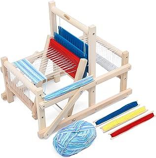 Lavievert Wooden Multi-Craft Weaving Loom DIY Hand-Knitting Weaving Machine Intellectual Toys for Kids