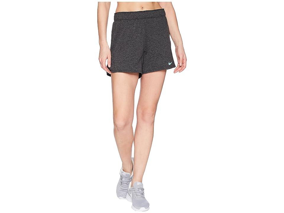 Nike Flex Attack Training Short (Black/Heather/Light Menta) Women