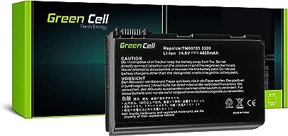 Green Cell Standard Serie GRAPE32 CONIS71 TM00741 TM00742 TM00751 TM00772 Laptop Akku f r Acer Laptop  8 Zellen 4400mAh 14 8V Schwarz