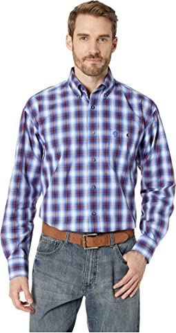 George Strait One-Pocket Button Plaid