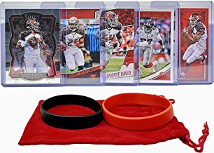 Tampa Bay Buccaneers Cards: Jameis Winston, Peyton Barber, Mike Evans, Lavonte David, Jason Pierre-Paul ASSORTED Football Trading Card and Wristbands Bundle
