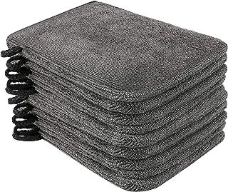 PHOGARY 10 Piezas Manoplas de Baño Guantes para Lavarse Tamaño, 15x21cm, Color Gris Antracita