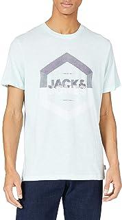 JACK & JONES Jjdelight Tee SS Crew Neck T-Shirt Uomo