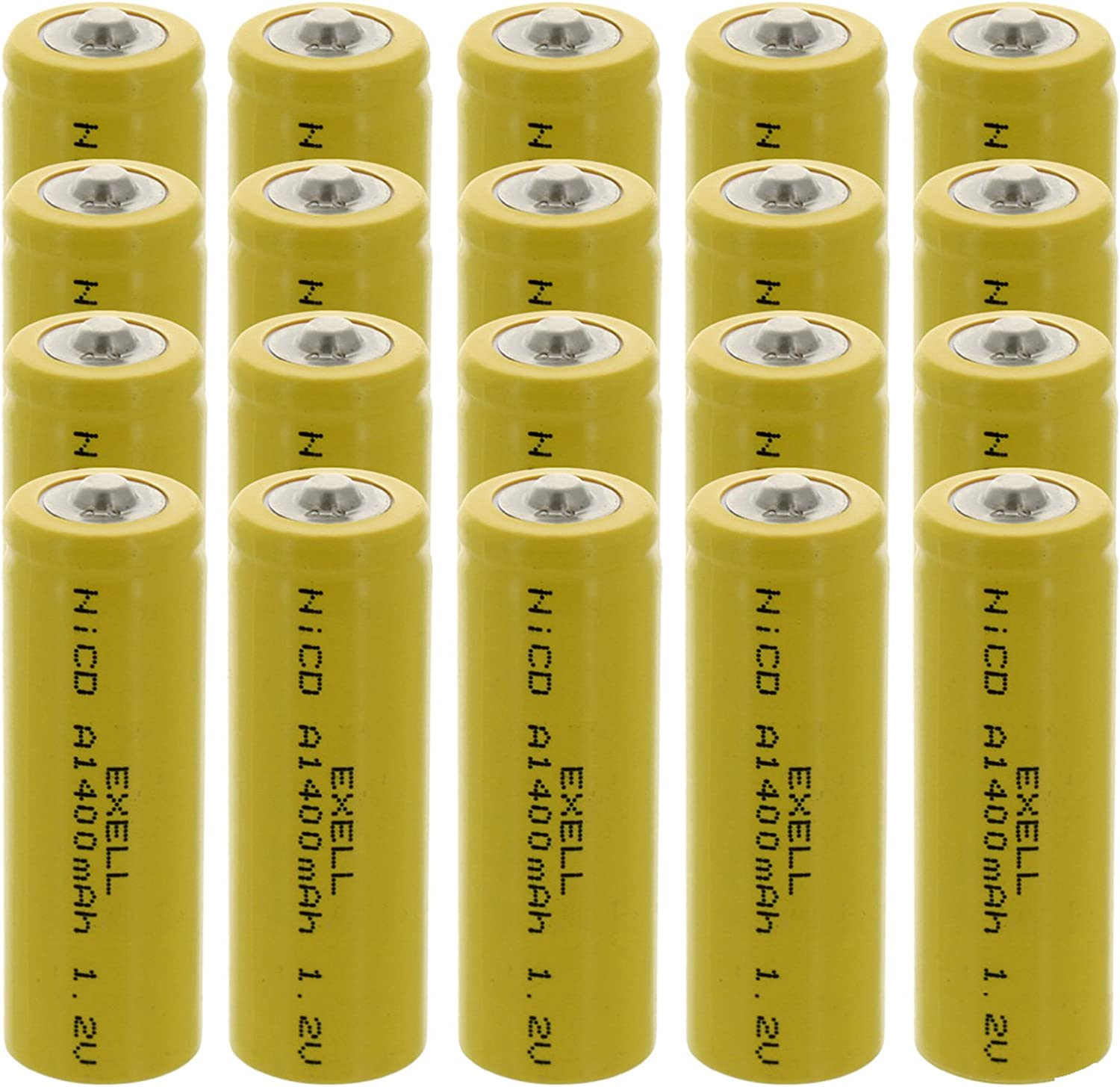 20x A Size Phoenix Mall Super beauty product restock quality top 1.2V NiCD Button Top Batteries elect for Rechargeable