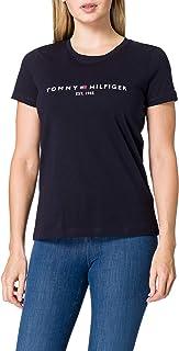Tommy Hilfiger TH ESS Hilfiger C-nk Reg tee SS Camiseta sin Mangas para bebés y niños pequeños para Mujer