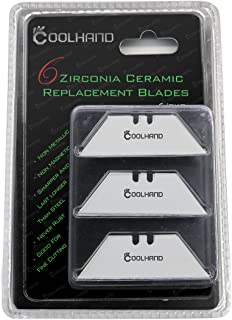 Cool Hand Zirconia Ceramic Utility Blade, Replacement Blades, Box Cutter, 6 Pcs per Pack