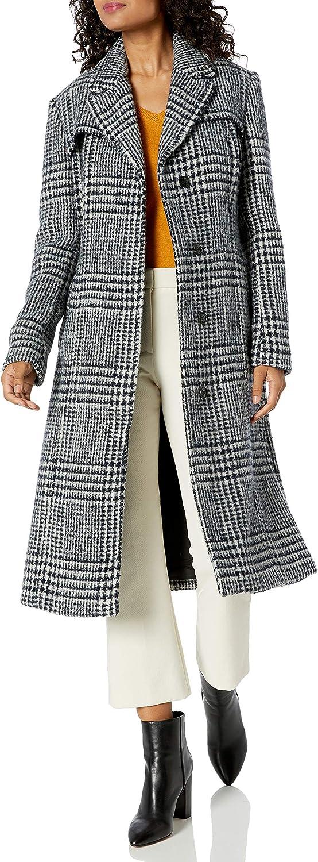 Cole Haan Women's Long Wool Trench Coat