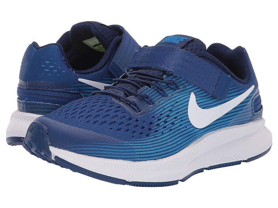 Nike Kids - Nike Kids Zoom Pegasus 34 FlyEase WIDE  (Blue)