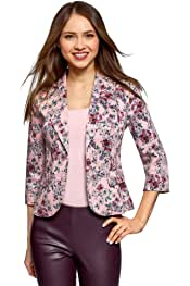 oodji Collection Donna Blazer Basic Aderente