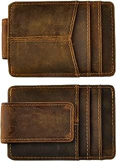 Genuine Leather Thin Card Case Holder Slim Handy Wallet Front Pocket
