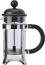 Bodum Caffettiera French Press Coffee Maker, Black Plastic Lid and Stainless Steel Frame, 3-Cup, 12-Ounce