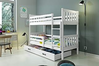 comprar comparacion LITERA INFANTIL CARINO para colchones 190x90, los somieres y cajón GRATIS!COLCHONES DE ESPUMA DE REGALO! color blanco