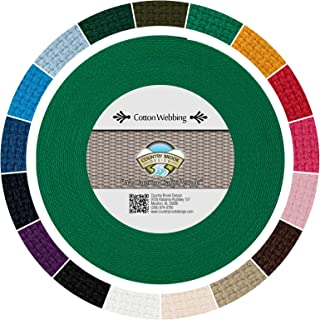 25 Yards Country Brook Design® 3//4 Inch Kelly Green Polypro Webbing