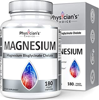 Magnesium Glycinate - Patented Bisglycinate Non Buffered Chelated Magnesium Supplement for Sleep, Muscle Cramps, Relaxatio...