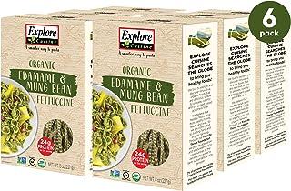Explore Cuisine Organic Edamame & Mung Bean Fettuccine (6 Pack) - 8 oz - High Protein, Gluten Free Pasta - USDA Certified ...