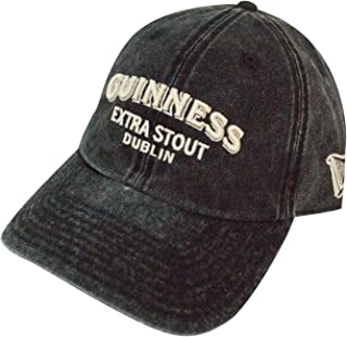 Elston Casual Baseball Dad Hat Guiness, Black (GUIN-1803A)