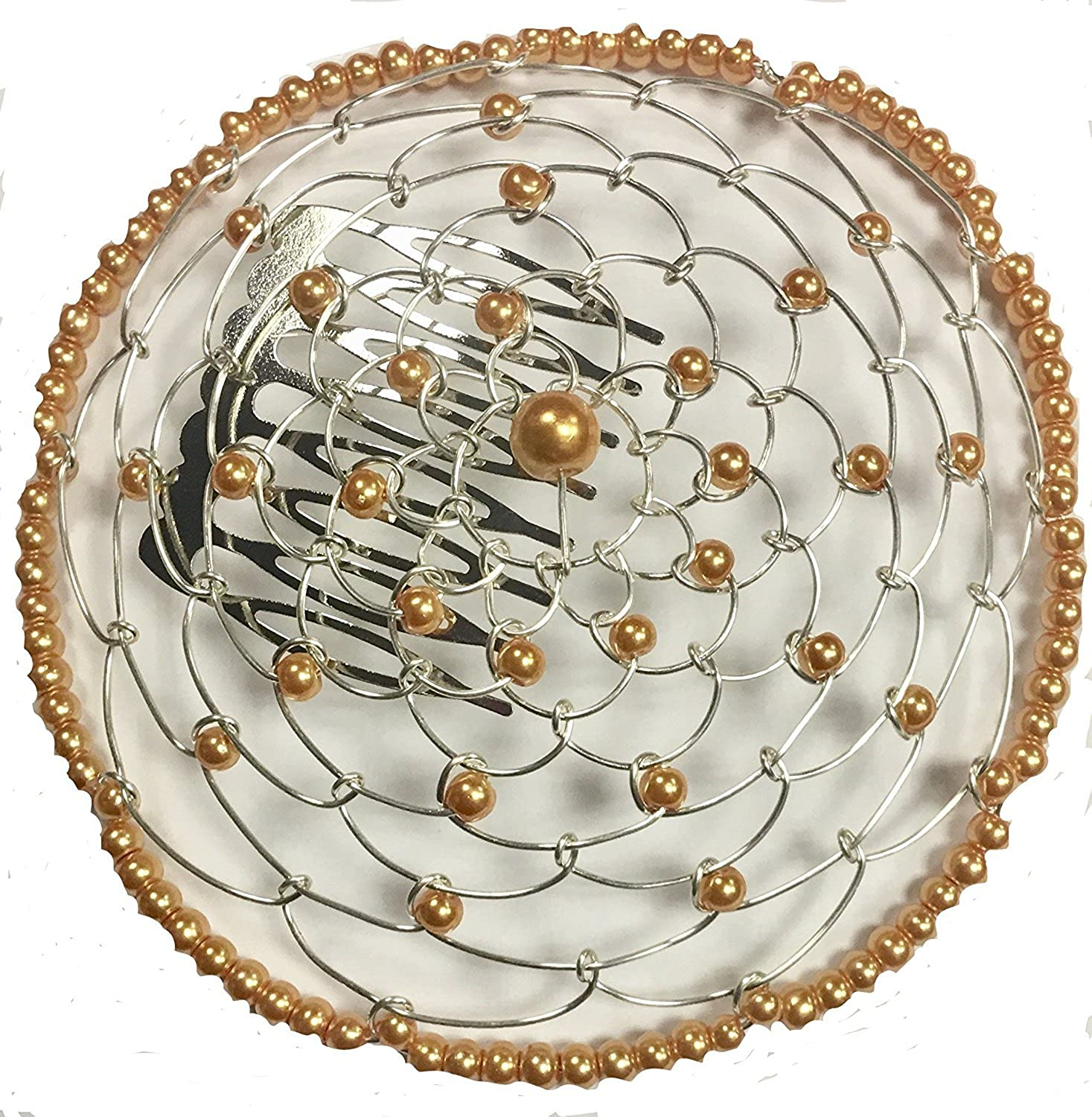 Alef Judaica Elegant Dressy Beaded Wire Kippah for Women