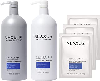 Nexxus Shampoo and Conditioner and 3 Hair Treatment Masks for Dry Hair Therappe Humectress Silicone-Free, Moisturizing Cav...