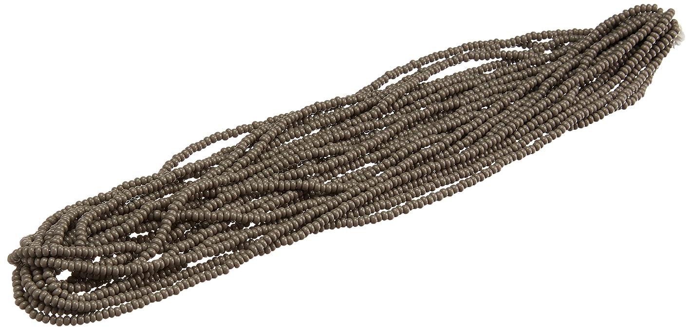 Preciosa Ornela Czech Glass Seed Bead Opaque Gray 8/0
