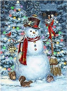 Winter Snowman Christmas Tree Garden Flag Snow Snowflakes Double Sided Flags House 28