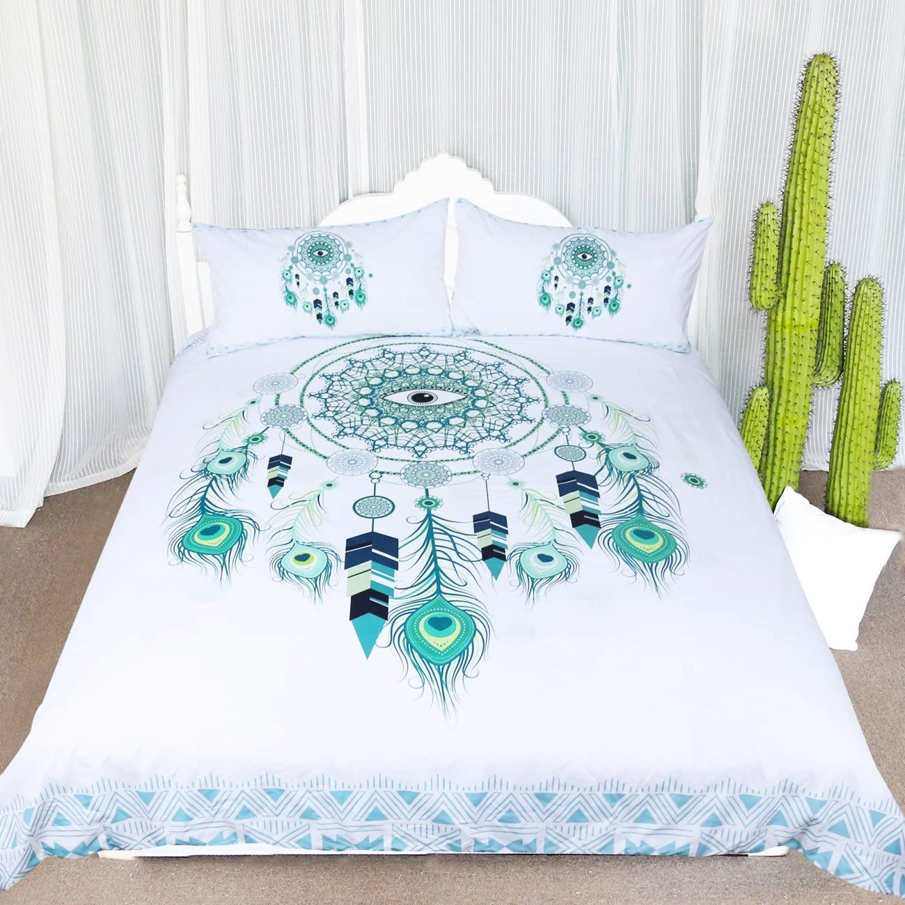 ARIGHTEX Blue Green Dreamcatcher Bedding Pieces Year-end Max 74% OFF annual account 3 Bohemian Dream