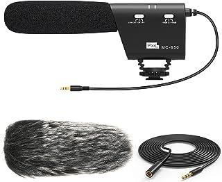 PIXEL MC650 Camera Microphone Kit, Directional Shotgun Video Mic for DSLR Camera Camcorder with Deadcat Windscreen, Foam W...