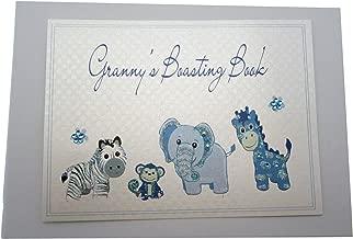 White Cotton Cards Granny's Boasting Book Photo Album (Tiny, Blue)
