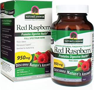 Nature's Answer Red Raspberry Leaf | Dietary Supplement | Promotes Digestive Health | Non-GMO, Vegan & Kosher Certified | ...