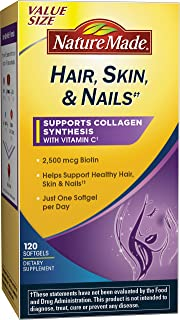 Nature Made Hair, Skin & Nails w. 2500 mcg of Biotin Softgels Value Size 120 Ct