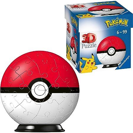 Ravensburger- Puzzles 3D 54 pièces-Poké Ball/Pokémon Enfant, 4005556112562