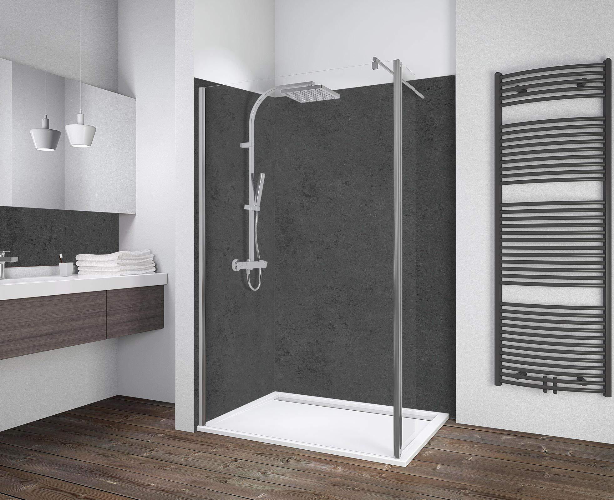 Schulte 100 x 190 cm Mampara de ducha con lateral móvil de 30 cm, Efecto cromado, Breite 100 cm: Amazon.es: Bricolaje y herramientas
